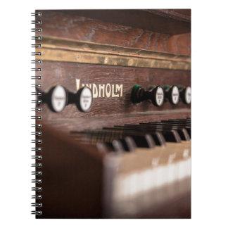 Cadernos Espiral Polônia antigo velho da música do instrumento do