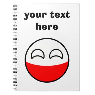 Cadernos Espiral Polônia Geeky de tensão engraçado Countryball