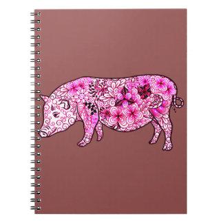 Cadernos Espiral Porco 3