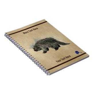 Cadernos Espiral Porco- no papel velho