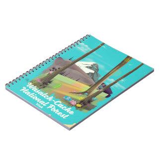 Cadernos Espiral Poster das férias de Utá da floresta nacional do
