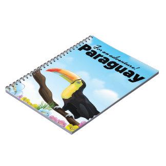 Cadernos Espiral Poster de viagens de Paraguai Toucan