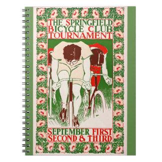 Cadernos Espiral Poster retro 1895 da bicicleta
