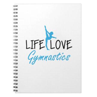 Cadernos Espiral Presente bonito do Gymnast ginástico da ginástica