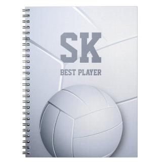 Cadernos Espiral Presente do esporte do jogador | do voleibol legal