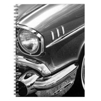 Cadernos Espiral Preto 1957 & branco do Bel Air de Chevrolet