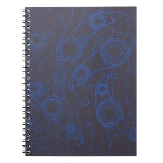 Cadernos Espiral Preto e azul