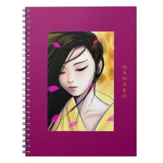 Cadernos Espiral Princesa bonita Trabalhos de arte Personalized do