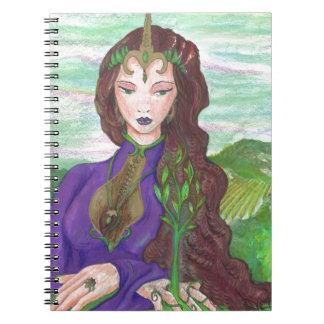 Cadernos Espiral Princesa Cura Terra Planta Growing do unicórnio