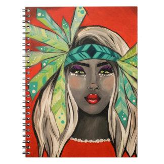 Cadernos Espiral Princesa de turquesa