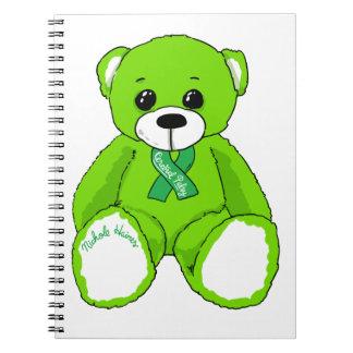 Cadernos Espiral Produtos do urso de ursinho da consciência da