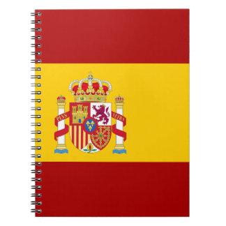 Cadernos Espiral Qualidade da bandeira da espanha
