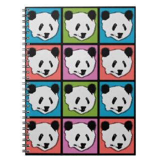 Cadernos Espiral Quatro ursos de panda gigante