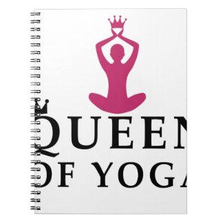 Cadernos Espiral rainha da coroa da ioga
