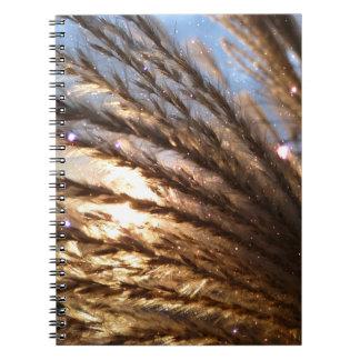 Cadernos Espiral Raios claros do trigo dourado e céu azul