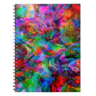 Cadernos Espiral Redemoinho brilhante psicadélico intenso da cor