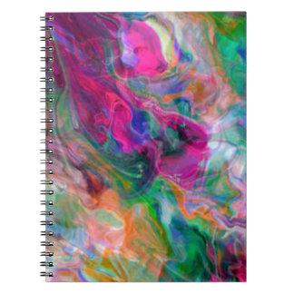 Cadernos Espiral Redemoinho psicadélico da cor
