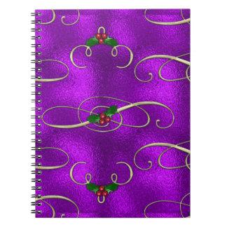 Cadernos Espiral Redemoinhos românticos do Natal do Lilac