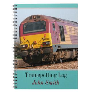 Cadernos Espiral Registro trainspotting diesel da classe 67