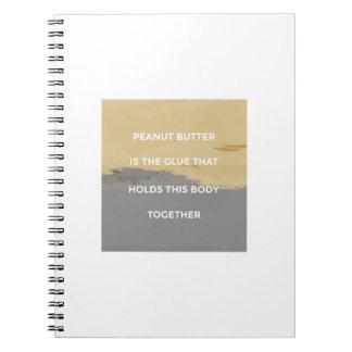 Cadernos Espiral Regras da manteiga de amendoim