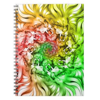 Cadernos Espiral Rei do círculo Rastafarian da mandala do orgulho