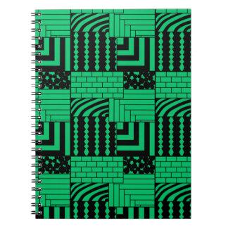 Cadernos Espiral Retângulos modelados