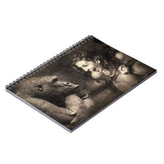 Cadernos Espiral Riso do gorila do fazer da mulher