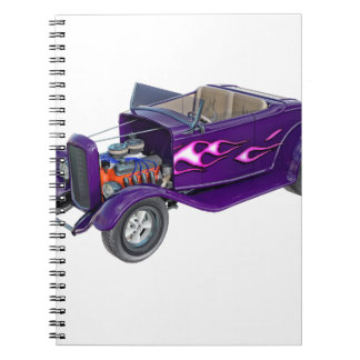 Cadernos Espiral Roadster 1932 com o motor indicado