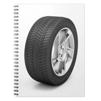 Cadernos Espiral Roda de carro