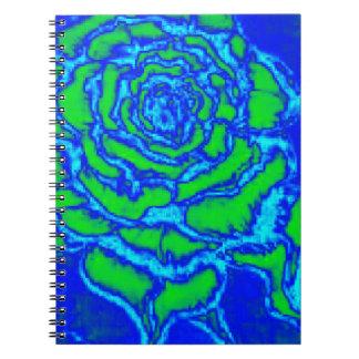 Cadernos Espiral Rosa do azul