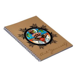 Cadernos Espiral Sapo de Tiki