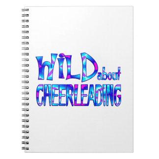 Cadernos Espiral Selvagem sobre Cheerleading