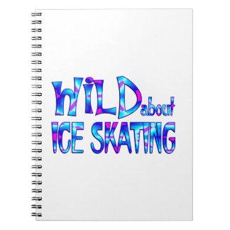 Cadernos Espiral Selvagem sobre o patinagem no gelo