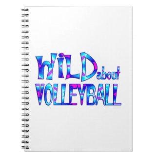 Cadernos Espiral Selvagem sobre o voleibol