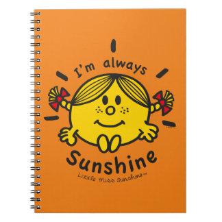 Cadernos Espiral Senhorita pequena Luz do sol | eu sou sempre luz