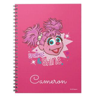 Cadernos Espiral Sesame Street   Abby Cadabby - faísca & brilho