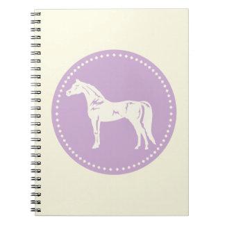 Cadernos Espiral Silhueta árabe do cavalo
