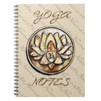 Cadernos Espiral Símbolo do OM da ioga