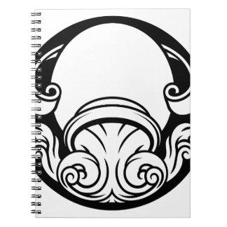 Cadernos Espiral Sinal da astrologia do horóscopo do zodíaco do