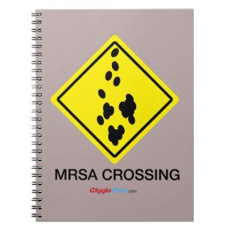 Cadernos Espiral Sinal do cruzamento de MRSA