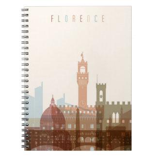 Cadernos Espiral Skyline da cidade de Florença, Italia |