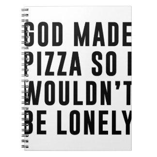 Cadernos Espiral Solitário da pizza
