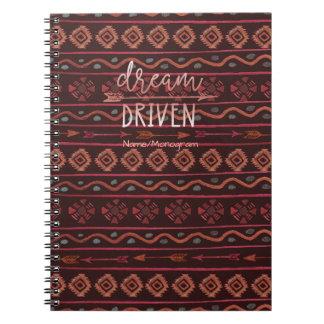 Cadernos Espiral Sonhe o teste padrão tribal conduzido de Boho com