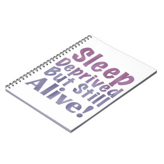 Cadernos Espiral Sono destituído mas ainda vivo em roxos sonolentos