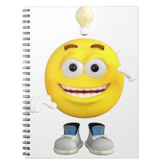 Cadernos Espiral Sr. Brainy que o Emoji esse ama pensar