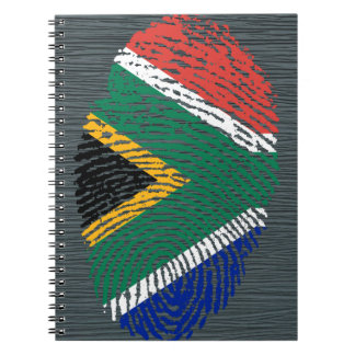 Cadernos Espiral Sul - bandeira africana da impressão digital do