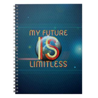 Cadernos Espiral SUPERIOR meu futuro é ilimitado