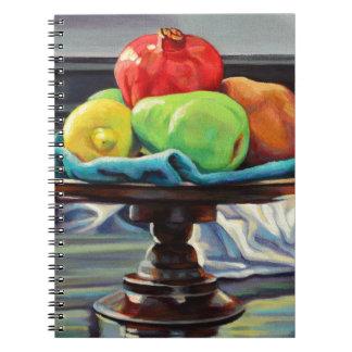 Cadernos Espiral Suporte do limão da pera da romã