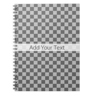 Cadernos Espiral Tabuleiro de damas cinzento da combinação por