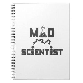 Cadernos Espiral Taça elétrica da ciência do cientista louco
